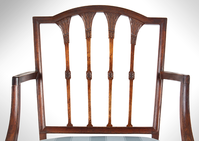 Seven Federal Carved Side Chairs & One Armchair *Four Additional Chairs Available Salem, Massachusetts, detail view 2
