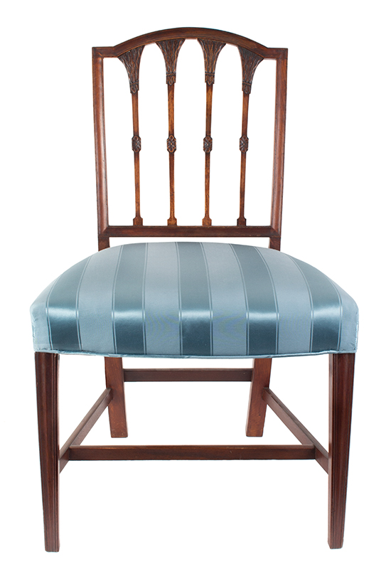 Seven Federal Carved Side Chairs & One Armchair *Four Additional Chairs Available Salem, Massachusetts, entire view 1