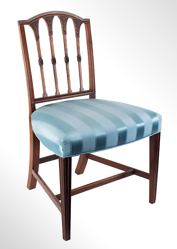 Seven Federal Carved Side Chairs & One Armchair *Four Additional Chairs Available Salem, Massachusetts, entire view 2