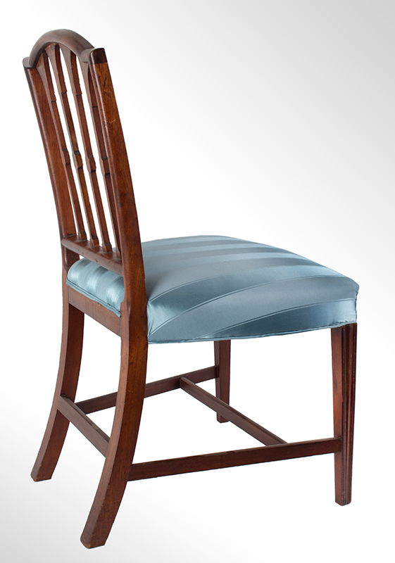 Seven Federal Carved Side Chairs & One Armchair *Four Additional Chairs Available Salem, Massachusetts, entire view 3