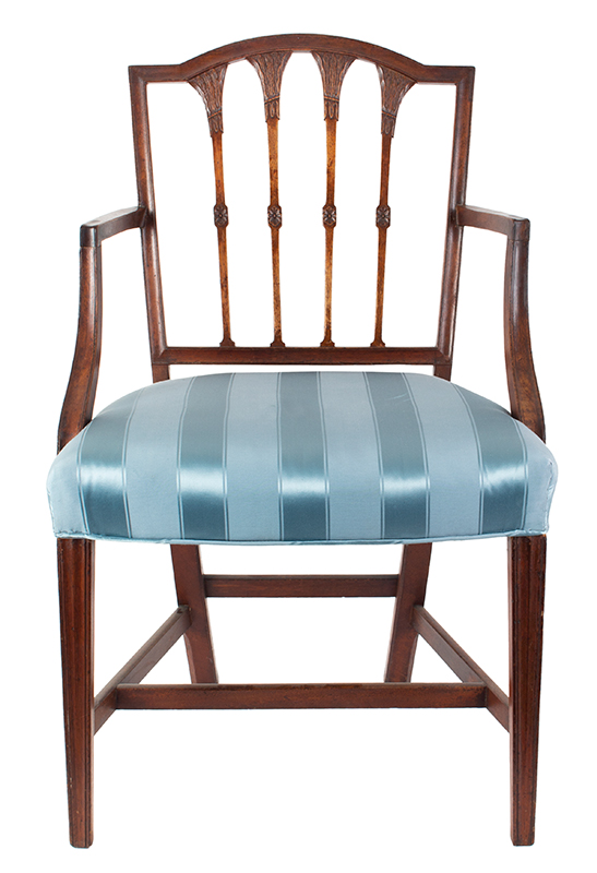Seven Federal Carved Side Chairs & One Armchair *Four Additional Chairs Available Salem, Massachusetts, entire view 4