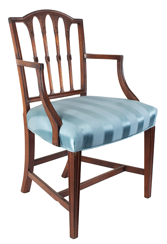 Seven Federal Carved Side Chairs & One Armchair *Four Additional Chairs Available Salem, Massachusetts, entire view 5