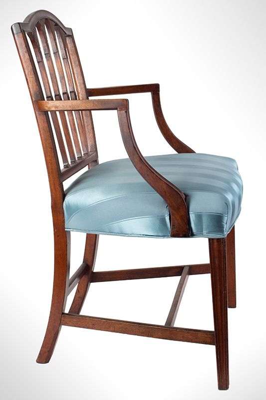 Seven Federal Carved Side Chairs & One Armchair *Four Additional Chairs Available Salem, Massachusetts, entire view 6