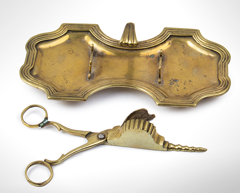 18th Century Candle Snuffer and Tray, Scissor Style French or English, entire view 2