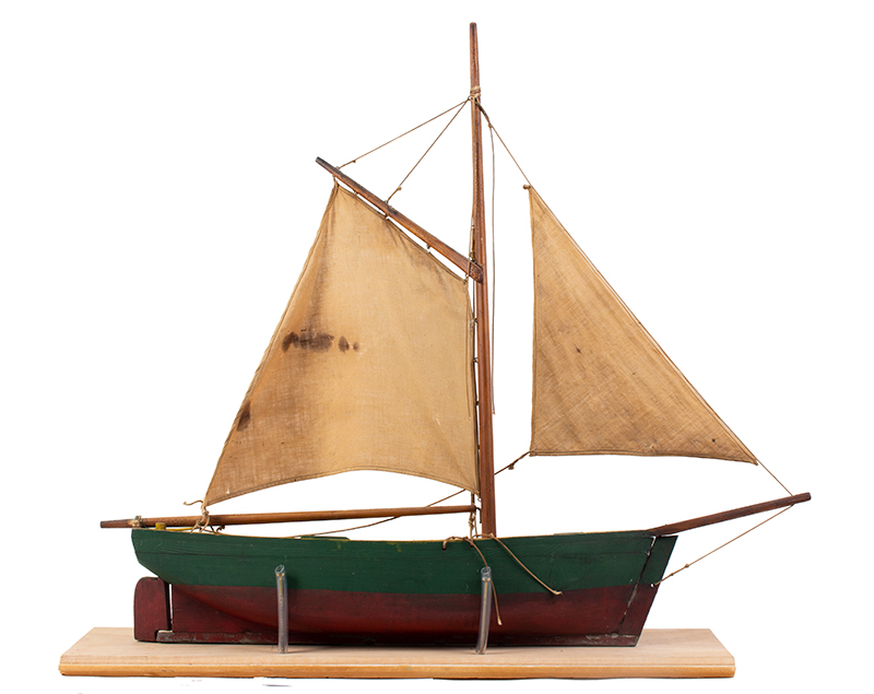 Vintage, Pond Model Sailboat, Great Original Paint, entire view 2