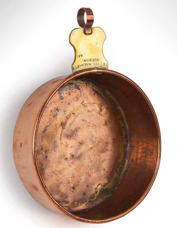 Civil War Nursing Bowl Used by Nettie Walworth Sisson Wife of Colonel Henry Tillinghast Sisson Little Compton, Rhode Island, entire view 1