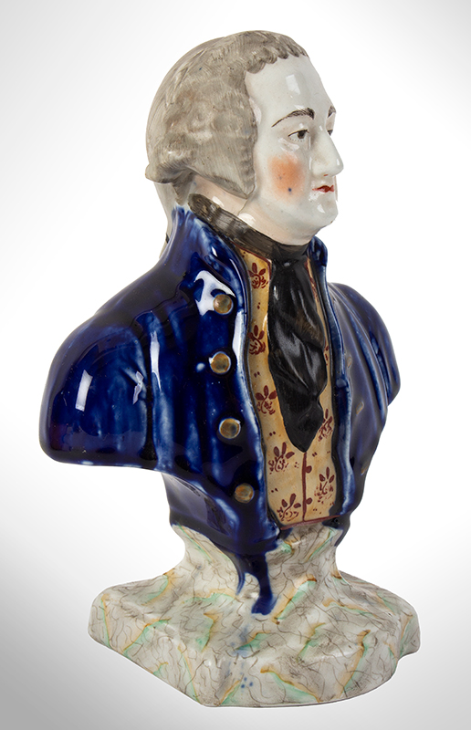 Staffordshire Pottery, Bust of George Washington, entire view 2