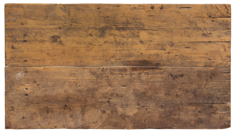 Antique Sawbuck Table, Large Size, Original Surface, Two Board Top York County, Pennsylvania, top view