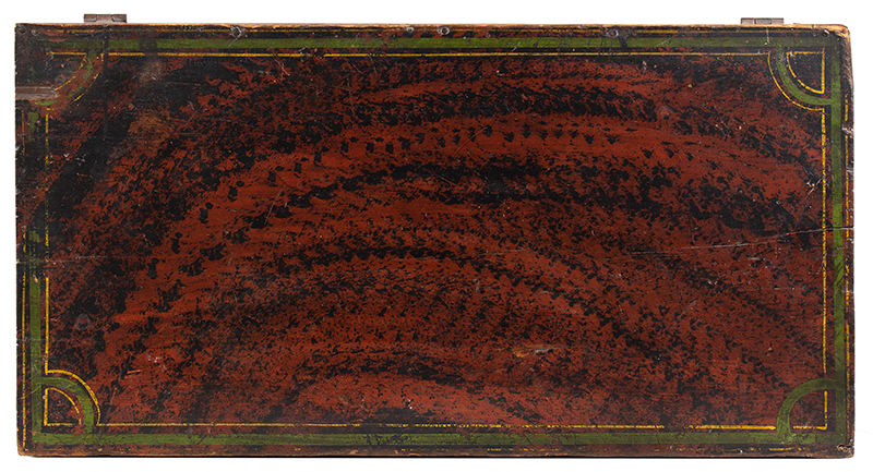 Paint Decorated Trunk, Flattop, Maine, Possibly Paris Hill, top view