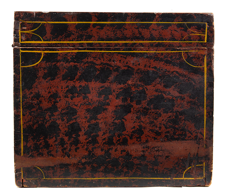 Paint Decorated Trunk, Flattop, Maine, Possibly Paris Hill, side view 1