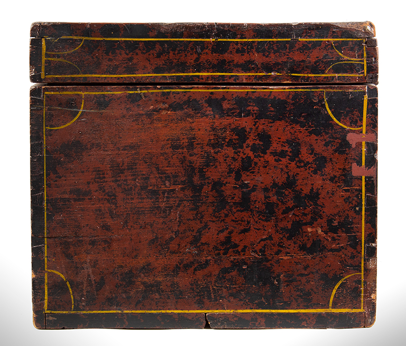 Paint Decorated Trunk, Flattop, Maine, Possibly Paris Hill, side view 2