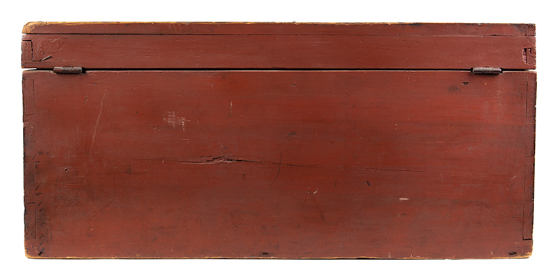 Paint Decorated Trunk, Flattop, Maine, Possibly Paris Hill, back view