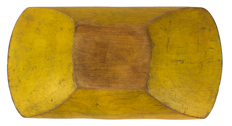 Treenware Trencher, Original Chrome Yellow Paint, entire view 2