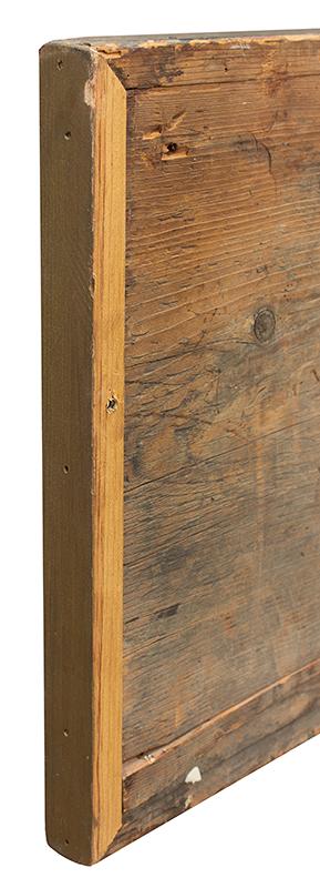 Antique Trade Sign, Tailor Shop, M.M. Brown, Scissors & Iron, America, repair detail 1