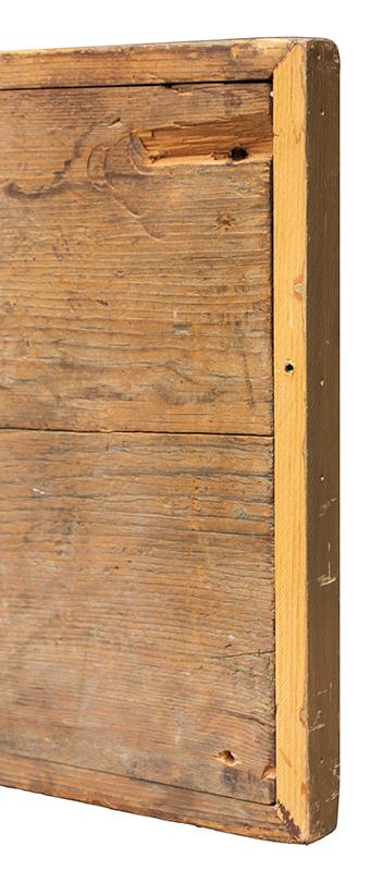 Antique Trade Sign, Tailor Shop, M.M. Brown, Scissors & Iron, America, repair detail 2
