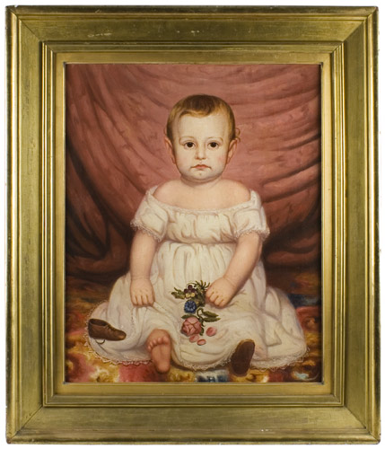 Nineteenth Century American School Portrait of Child Anonymous, entire view