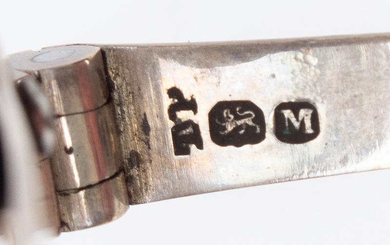Coin Silver Eyeglasses in Labeled Shagreen Case, John Bleuler, (1756-1829) No. 27 / Ludgate Street / LONDON, marks