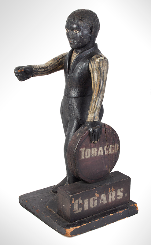 Cigar Store Figure, Countertop Tobacconist Figure, Historic Painted Surface, entire view 1
