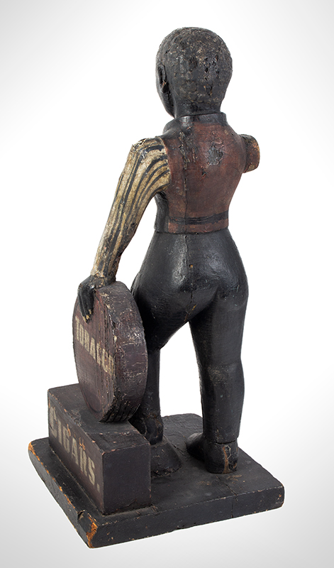 Cigar Store Figure, Countertop Tobacconist Figure, Historic Painted Surface, entire view 5