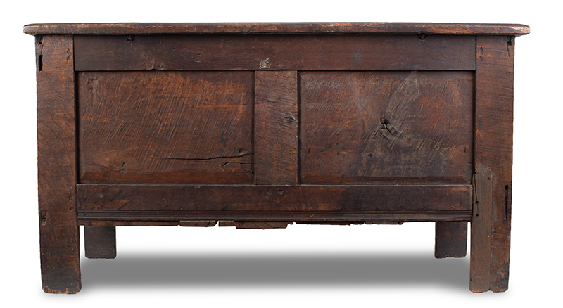 Joined, Carved and Polychromed Coffer, Likely Somerset, or Dorset England, entire view 3