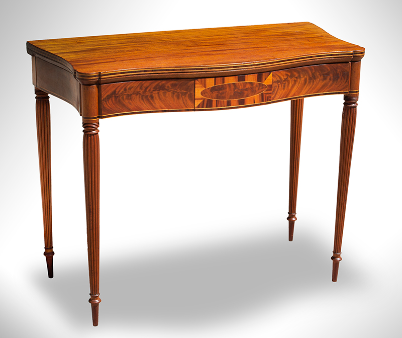 Federal Game Table, Card Table, Probably Massachusetts, entire view 1