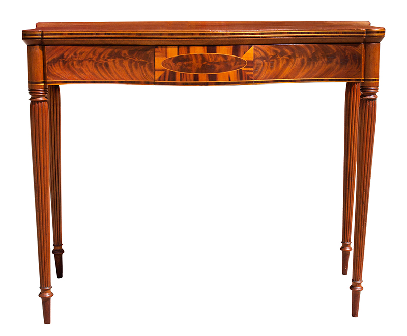 Federal Game Table, Card Table, Probably Massachusetts, entire view 2