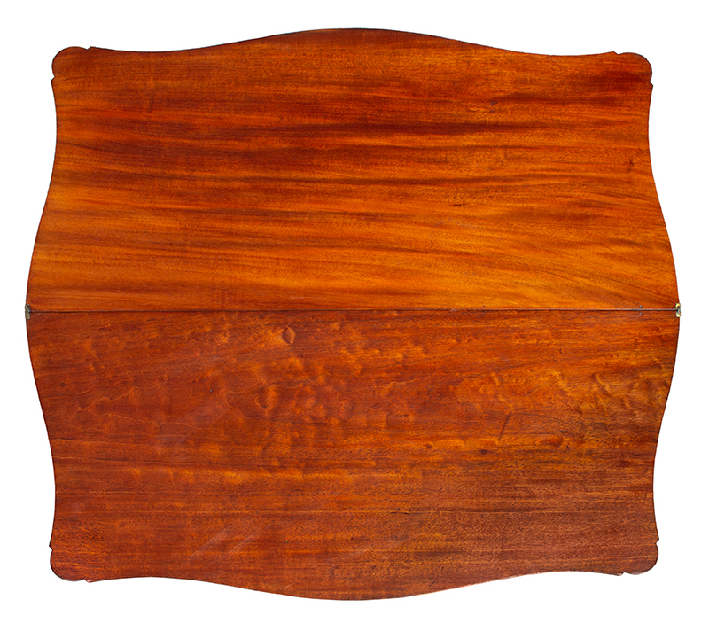 Federal Game Table, Card Table, Probably Massachusetts, top view