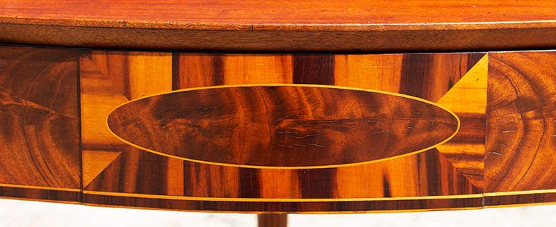 Federal Game Table, Card Table, Probably Massachusetts, detail view