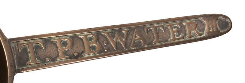 Posnet, Skillet, T.P.B. Water III, Thomas Pyke Founder of Bridgewater, Somerset, England, handle
