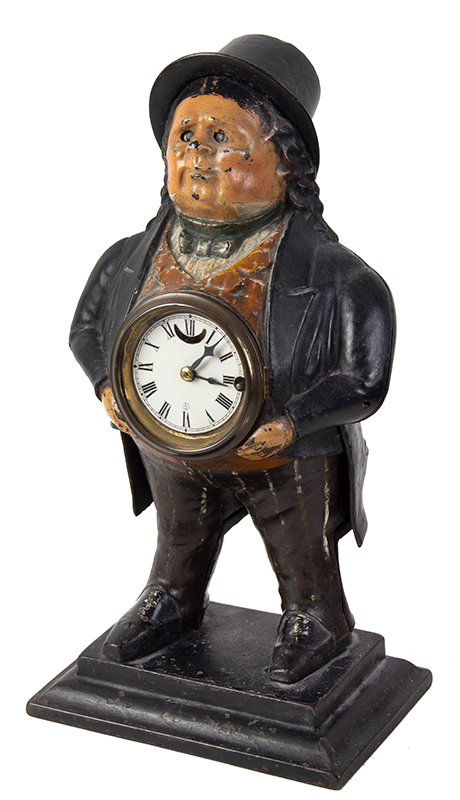John Bull Blinking Eye Novelty Shelf Clock, T. Kennedy, Blinker Bradley and Hubbard, entire view 1