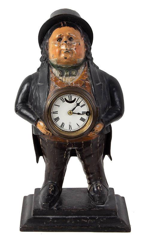 John Bull Blinking Eye Novelty Shelf Clock, T. Kennedy, Blinker Bradley and Hubbard, entire view 2