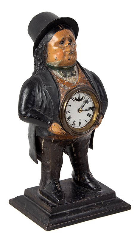 John Bull Blinking Eye Novelty Shelf Clock, T. Kennedy, Blinker Bradley and Hubbard, entire view 3