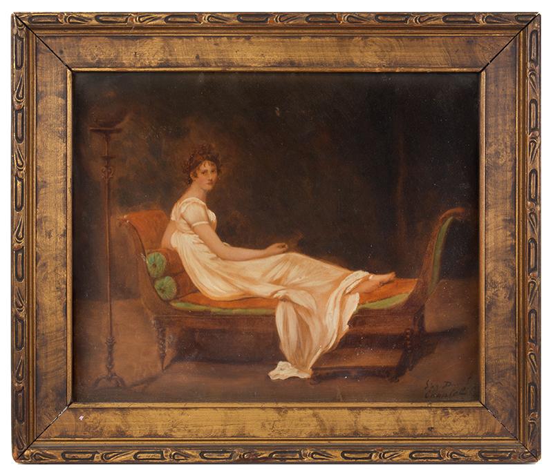 After Jacques-Louis David [1800], Portrait, Madame Récamier on Directoire Sofa, entire view 1