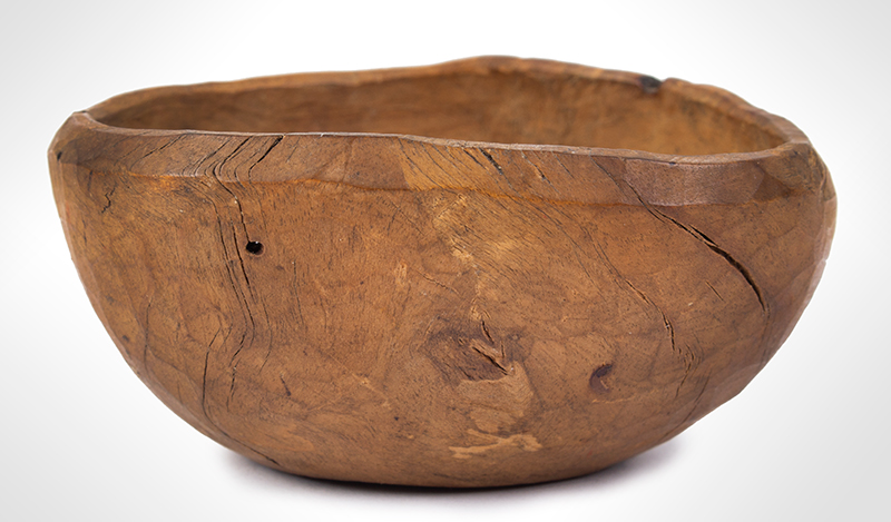Small Treen Bowl, Natural Shape and Surface, American, entire view 1