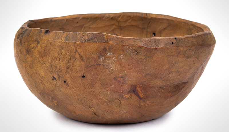Small Treen Bowl, Natural Shape and Surface, American, entire view 2