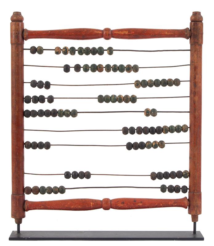 Antique Abacus, Calculator, Original Paint, entire view 1