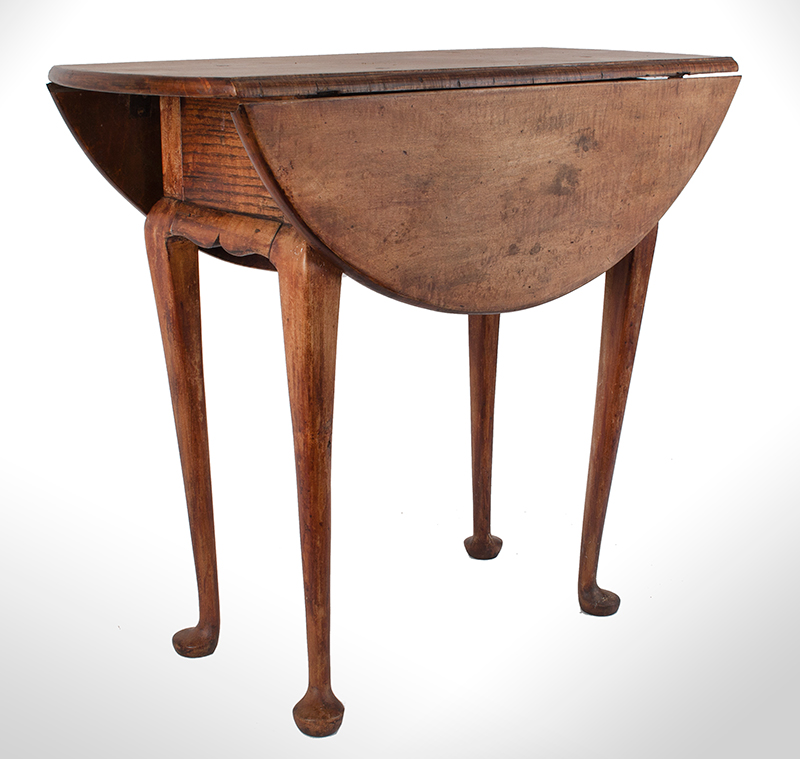 Queen Anne Drop Leaf Table, Rhode Island, or Southeastern Massachusetts Rare Small Size, entire view 4
