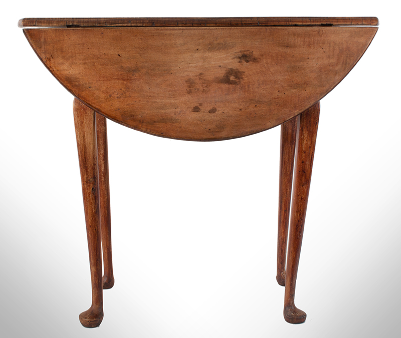 Queen Anne Drop Leaf Table, Rhode Island, or Southeastern Massachusetts Rare Small Size, entire view 5