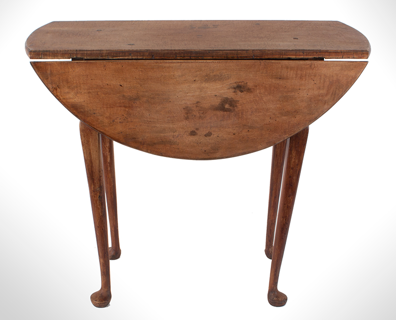 Queen Anne Drop Leaf Table, Rhode Island, or Southeastern Massachusetts Rare Small Size, entire view 6