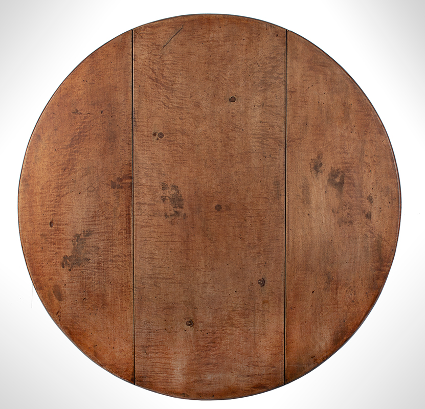 Queen Anne Drop Leaf Table, Rhode Island, or Southeastern Massachusetts Rare Small Size, top view