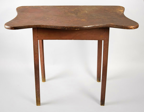 Important and Rare Toilet Table, Original Red Painted Surface Portsmouth, New Hampshire Area, entire view 1
