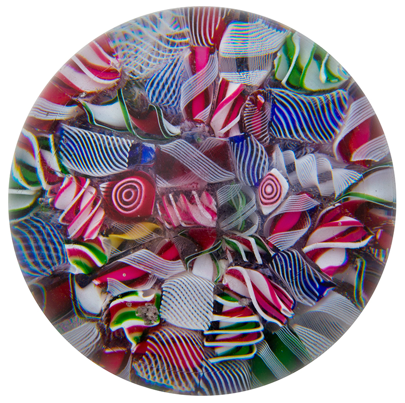 Vintage Glass Millefiori Paperweight Anonymous, entire view