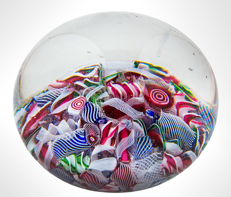 Vintage Glass Millefiori Paperweight Anonymous, entire view 2