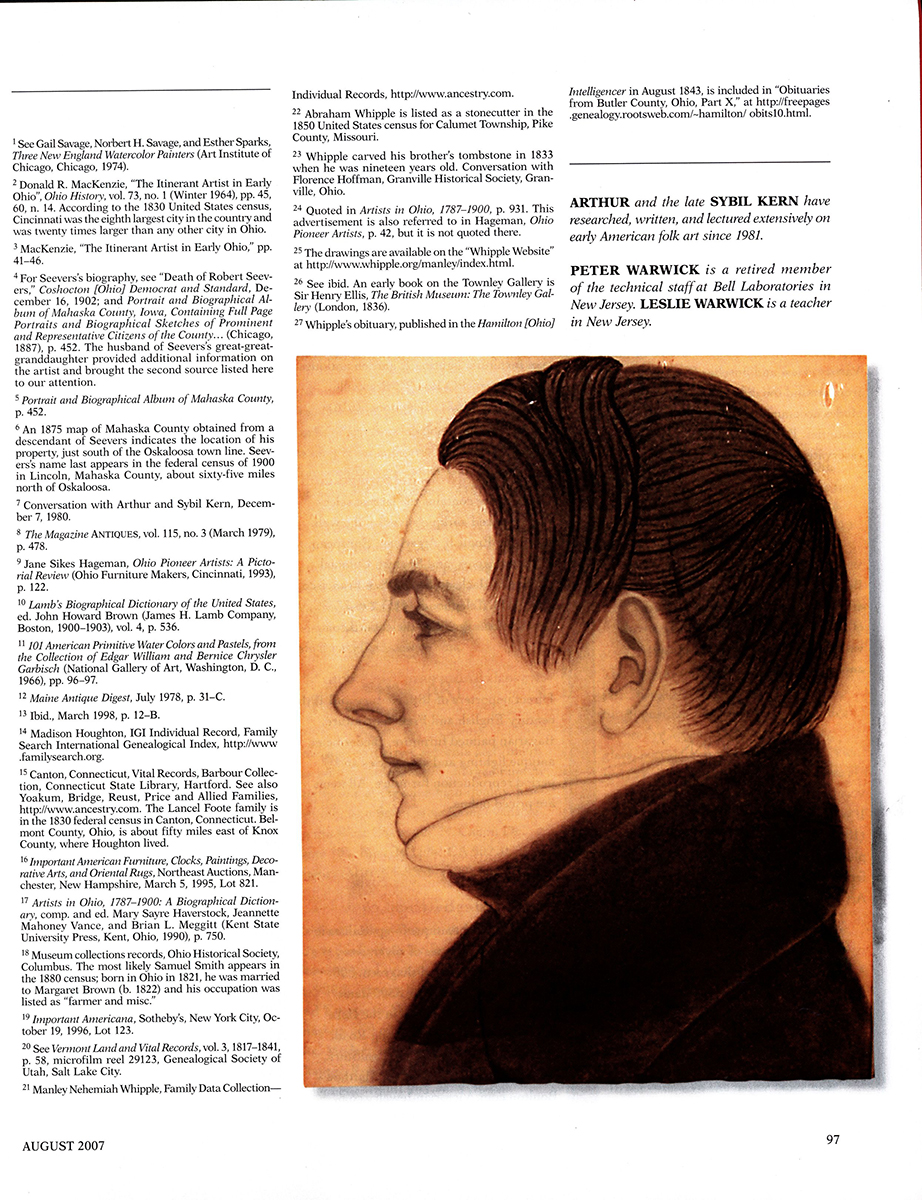 Madison Houghton (1809-1870), Shoulder Length Profile Portrait of Young Man Miami Township, Ohio, magazine view 8