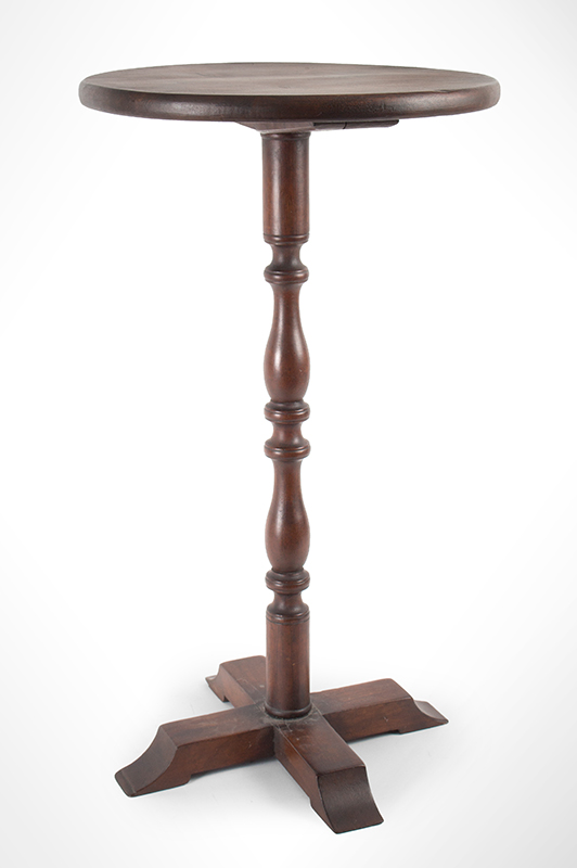 Pennsylvania Candlestand, Crossed Shoe Feet, X-Form Base Lighting Stand, entire view 1