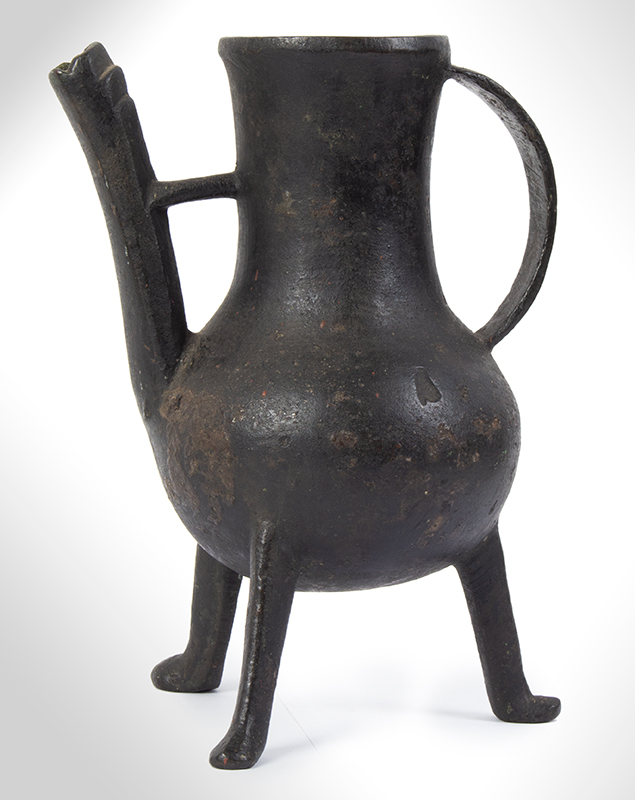 A Medieval Spouted Bronze Ewer, Late 14th / Early 15th Century English or Northern European, entire view 3