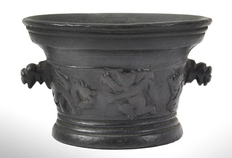 MINIATURE Bronze Mortar, Italian, entire view 2