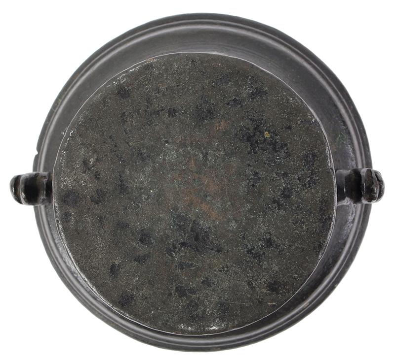MINIATURE Bronze Mortar, Italian, bottom view