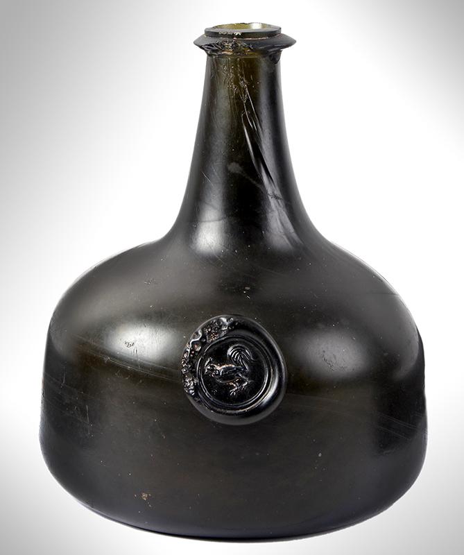 Wine Bottle, Mallet, Cockerel Seal, English, entire view 1