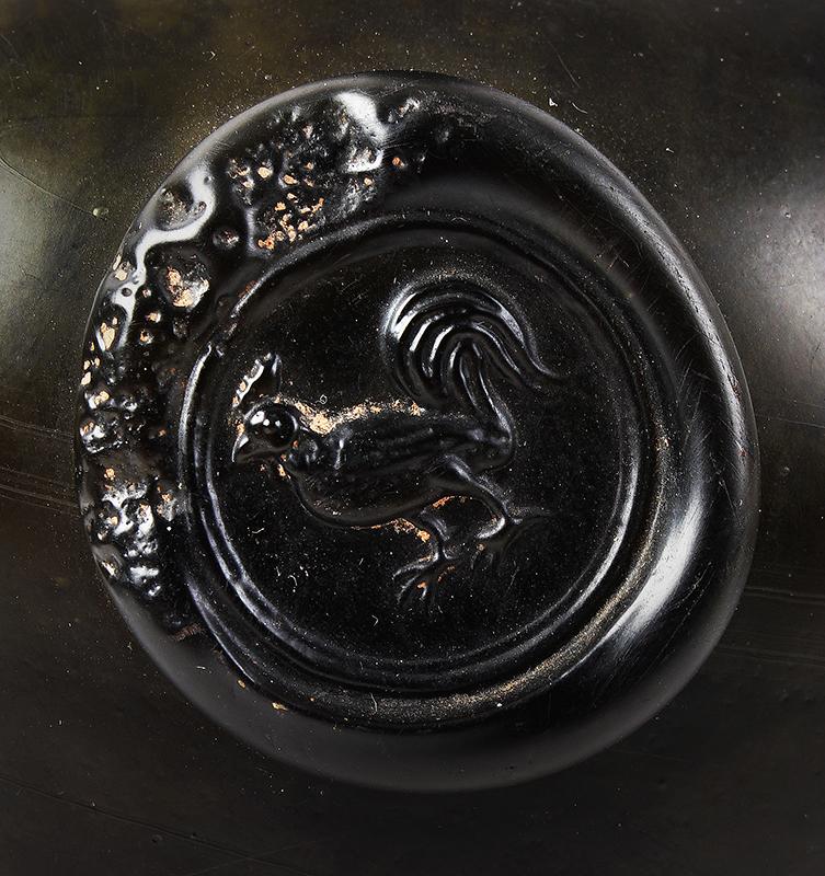 Wine Bottle, Mallet, Cockerel Seal, English, seal detail